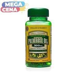 Olej z Wiesiołka 500 mg Produkt Wegetariański 60 Kapsułek