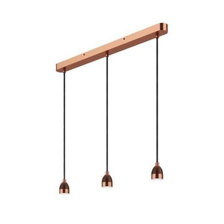 3LT BAR Lampa Sufitowa Zawieszenie Miedź LED