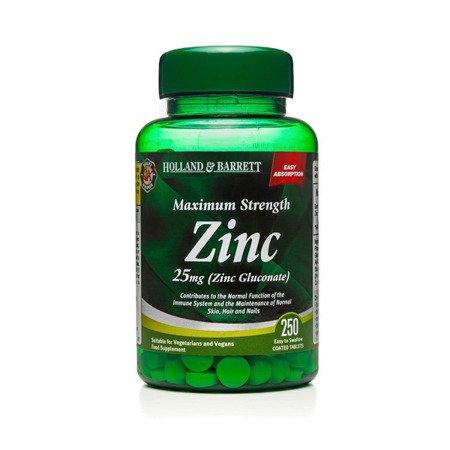 Cynk 25 mg 250 Tabletek