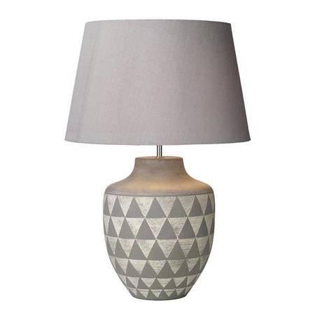 MULAN Lampa Stołowa Kolor Szary Kolor Biały