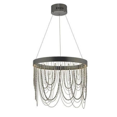 ROELLA Lampa Sufitowa Brąz Łańcuch LED