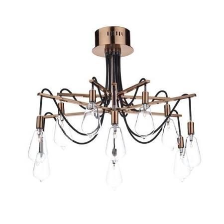 SCROLL 10LT Lampa Sufitowa Miedź
