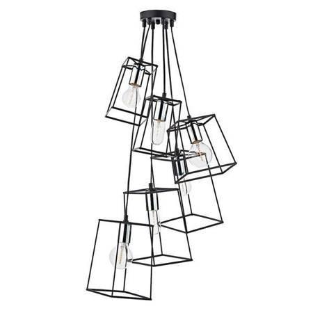 TOWER 6LT Lampa Sufitowa Kolor Czarny